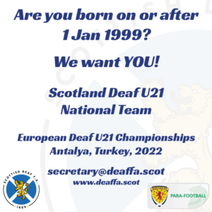 Looking for players for Scotland U21 National Team